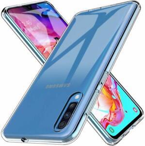 Samsung-Galaxy-A70-Transparent-Huelle-Durchsichtig-Case-Clear-Cover-Liquid