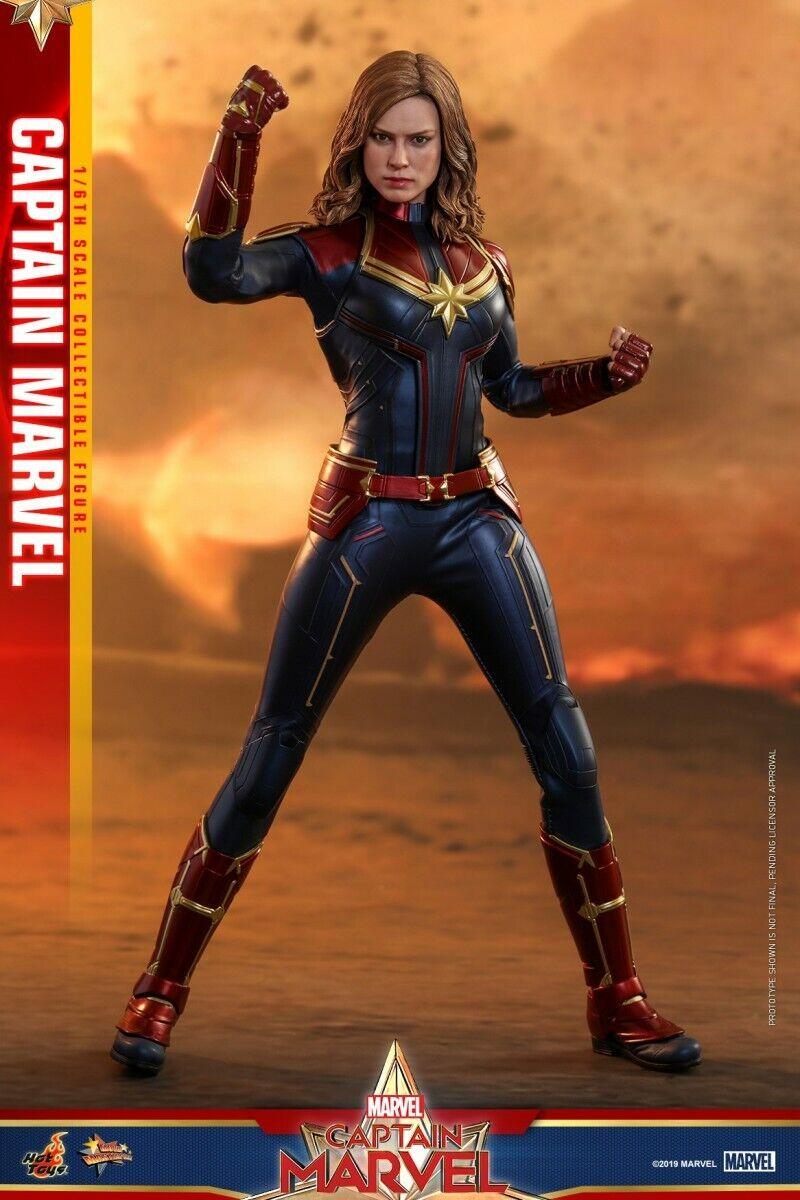 HotToys 1 6 MMS521 Capitaine Marvel Carol Danvers Brie Larson figure féminine poupées