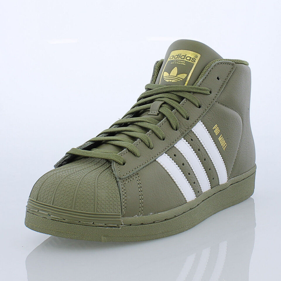 Adidas Pro Model AC7067 Olive White Gold Men Sz 7.5 - 12