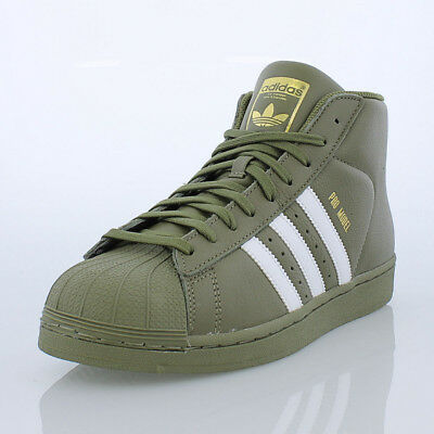 sports shoes b485c 4ed87 Details about Adidas Pro Model   AC7067 Olive White Gold Men Sz 7.5 - 12