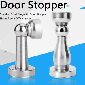 1pc Stainless Steel Strong Magnetic Door Stop Stopper Holder Door Stay Suction