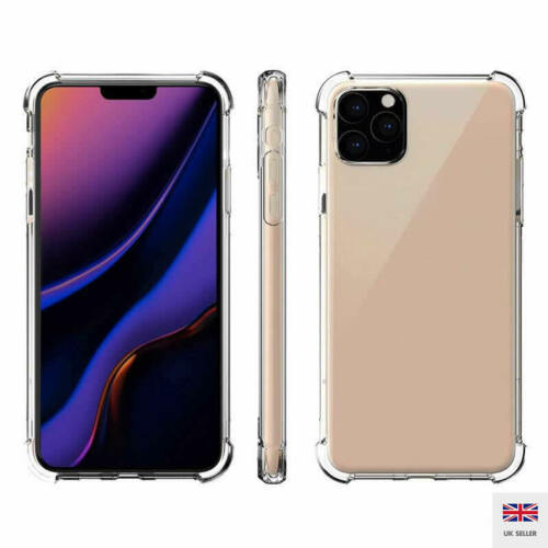 Para iPhone 11 Pro Max caso a prueba de choques Suave TPU Silicona Cubierta Protectora De Teléfono