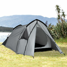 Outsunny 1-2 Man Camping Dome Tent Porch Mesh Window Double Layer Hiking