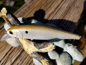 CUSTOM PAINTED  LUCKYCRAFT  POINTER STYLE JERKBAIT GREEN SHAD FISHING LURE