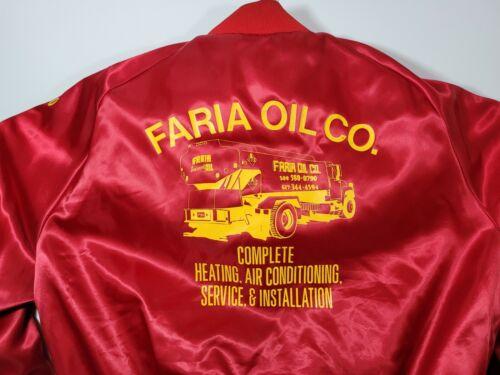 Vintage Faria Oil Co. Satin Aristo Jac Jacket Men'