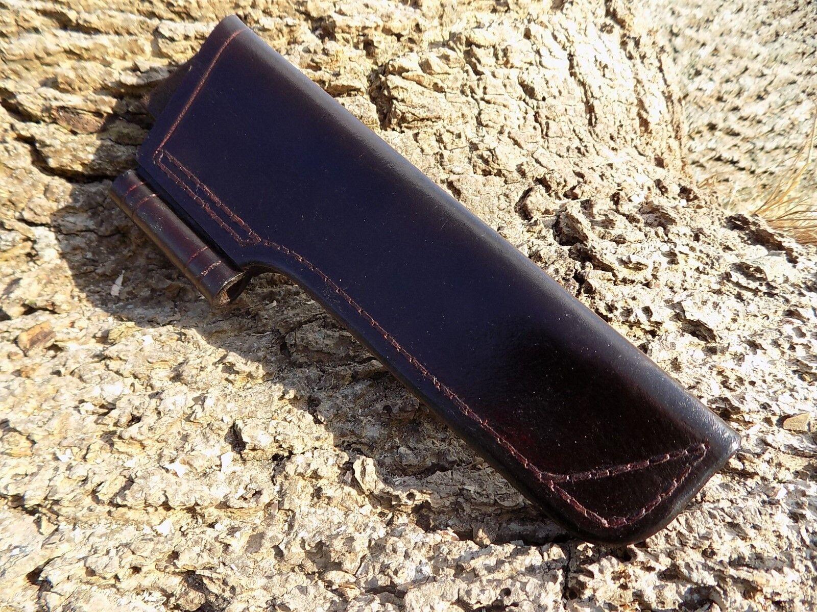 Handmade leather Bushcraft  Knife Sheath  Dark Brown with firesteel holder  authentic quality