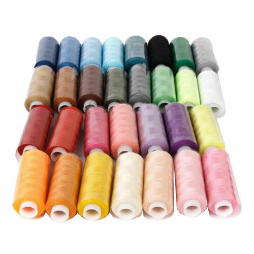 30 Spools Mixed Colors 100/% Polyester Sewing Quilting Threads All Purpose