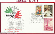 ITALIA FDC ESPOSIZIONE MONDIALE DI FILATELIA '85 1985 ANN. CITTà VATICANO T622