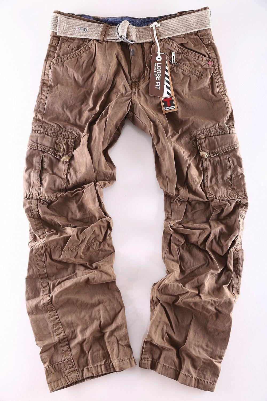 TIMEZONE Jeans Uomo Cargo Pant Benito Benito Benito 6200 DARK EARTH + Cintura Nuovo Clubwear 919ea5