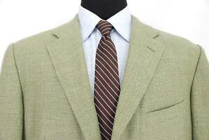 Ermenegildo Zegna 3btn Sport Coat Jacket Green Houndstooth