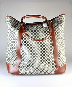 28d06e37a5f8 $1,595 NWT Gucci Diamante Large Canvas & Leather Travel Tote RARE ...