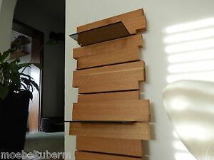 Design-Wandboard-Eiche-Massiv-Holz-Board-Regal-Glasregal-Regalbrett-NEU