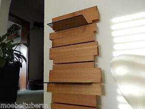 design wandboard eiche massiv holz board regal glasregal. Black Bedroom Furniture Sets. Home Design Ideas