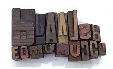 Letterpress Letter Wood Type Printers Block Lots Of 16 Typography Eb 47