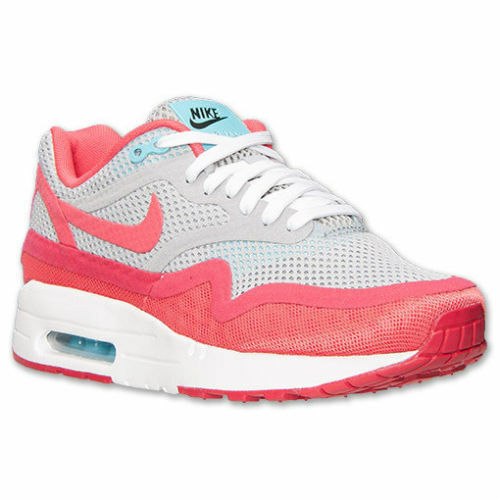 Nike Women's Air Max 1 Premium BR Running Shoes Size 5.5 NEW 644443 001 Red/Grey