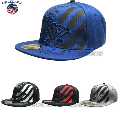 Adjustable NY Snapback Hat Hip Hop Baseball Cap Hats Plain Flat Mens Hat NEW