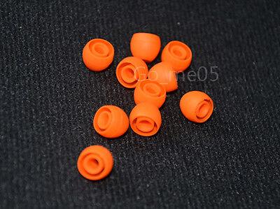 New 20X round earbud ear buds tips size S orange for In ear earphones