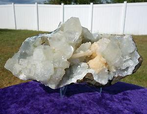 Apophyllite-amp-Stilbite-Crystal-Healing-Cluster-Points-Mineral-Natural-Specimen