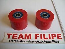 Honda CR 125 98 1998  Chain Roller Set Rollers Upper + Lower Chainroller Red