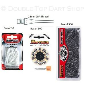 HARROWS H TIPS Soft Tip Lace 2BA White for Soft Tip Darts 500//1.000 pieces