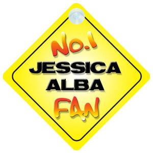 No-1-Jessica-Alba-Fan-Car-Door-Window-Hanger-Sign