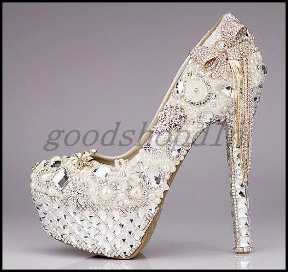 sconto online di vendita Luxury donna donna donna Rhinestone High Heels Wedding scarpe Tassels Platform Bridal Pumps  autentico online
