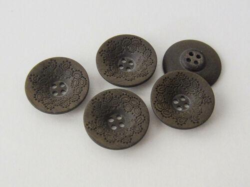 5907db-18 5 perlado pardo oscuro plástico botones con imaginación patrón