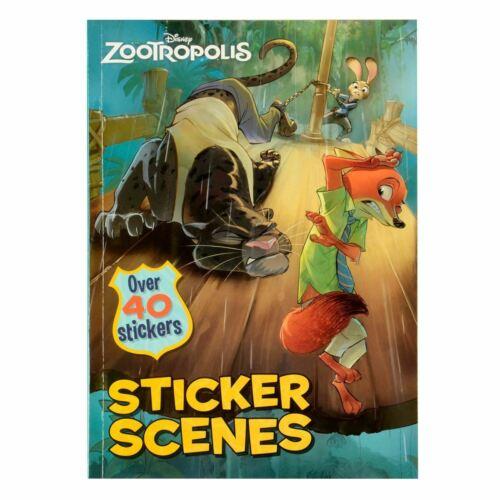 Disney Zootropololis Autocollant Scenes Story Livre de poche-plus de 40 AUTOCOLLANTS
