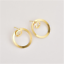 Simple-Women-Circle-Round-Ear-Stud-Earring-Minimalist-Gold-Earrings-Jewelry-Gift thumbnail 2