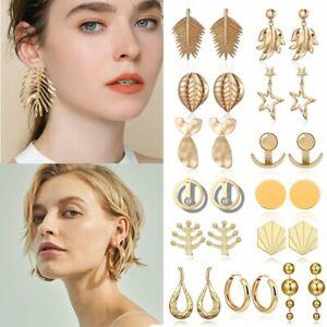 Moda-Boho-donne-semplice-CERCHIO-geometrico-orecchio-Stud-Goccia-Dangle-Earrings-Designs