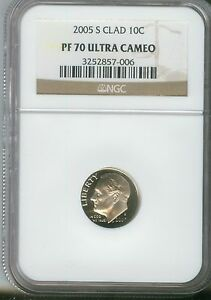 2008-S ROOSEVELT CLAD PROOF DIME 10c NGC PF70 ULTRA CAMEO