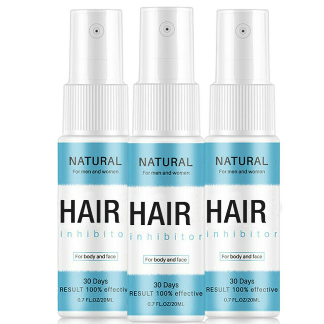 3packs Permanent Hair Removal Spray Hair Growth Inhibitor Remover
