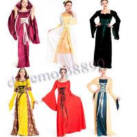 Renaissance Medieval Vintage Victorian Gothic Dress Cosplay Costume Halloween