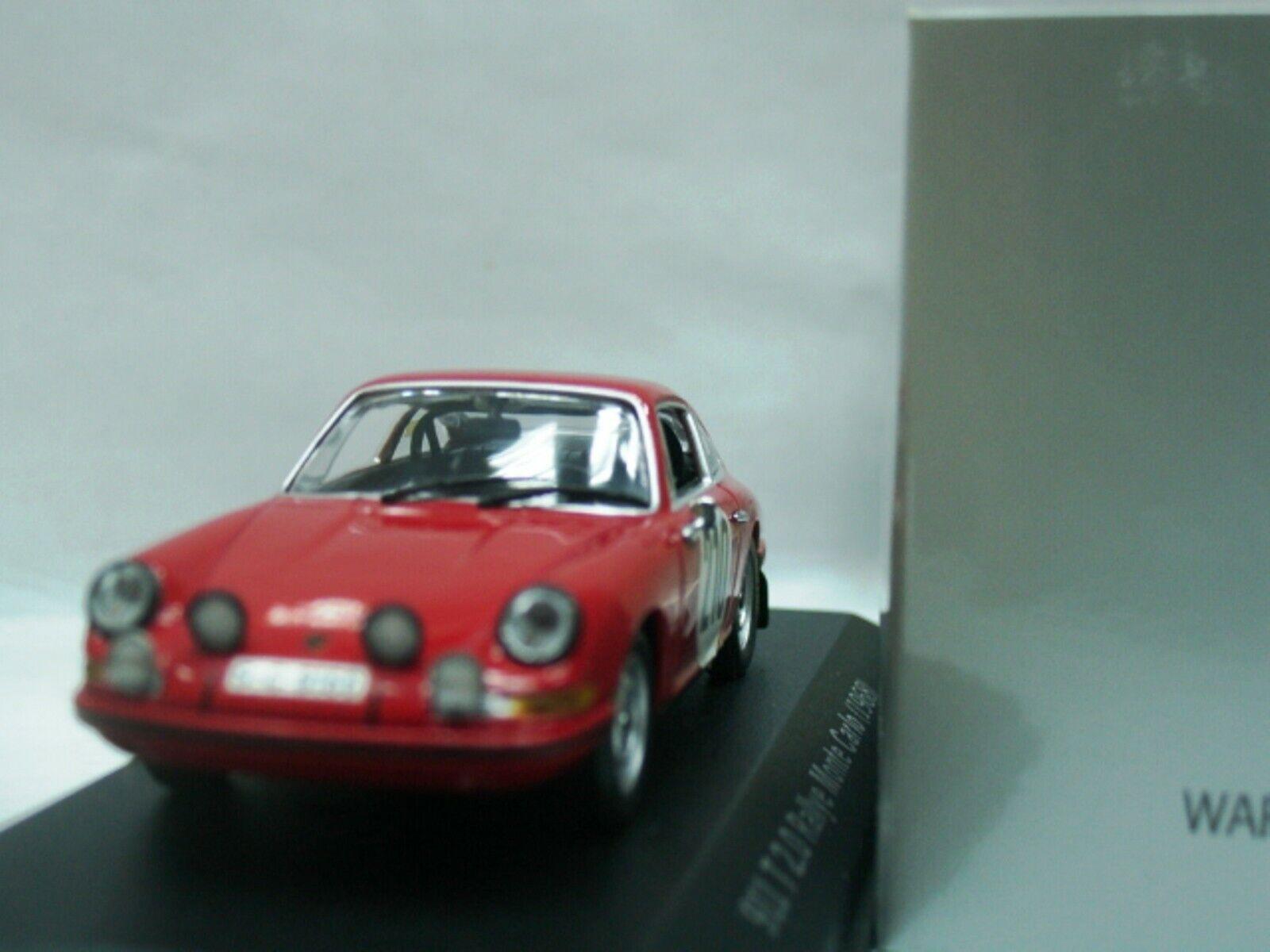 Wow extremadonnate raro Porsche 911 1968 Elford M. Carlo 1 43 Minichamps-Spark-T