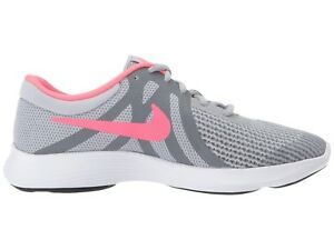 Nike Kids Revolution 4 Girls Sneakers (943306 003) Grey  Pink Sizes ... 18d795fc0