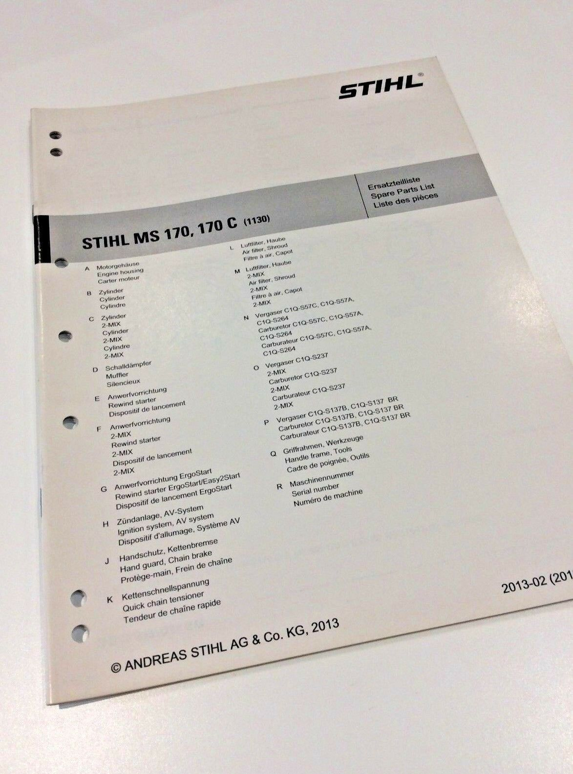 Stihl Ms170 Spare Parts List | Cardbk co
