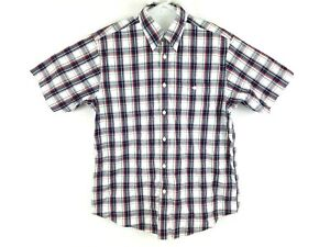 Orvis-Mens-Large-L-Short-Sleeve-Plaid-Check-Button-Down-Multicolor-Shirt
