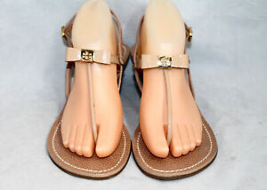 TORY BURCH Kailey Nude Patent Lthr Slingback Wedge Bow