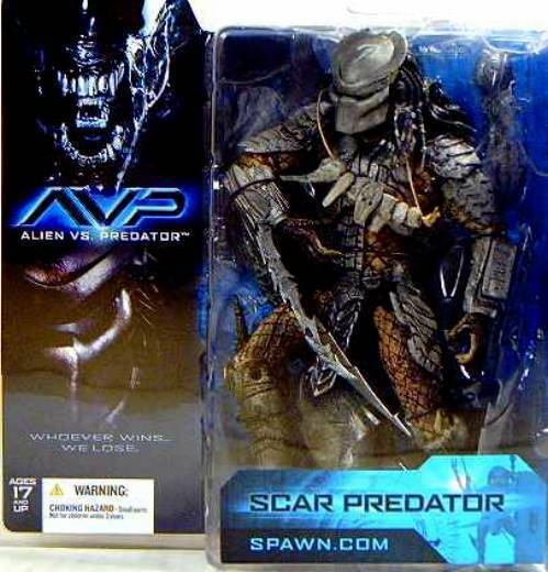 McFarlane Toys Alien VS PROTator Movie  Scar Action Figure New from 2004