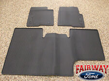 10 thru 14 Ford F-150 OEM Black Rubber Floor Mat 3-pc Crew Cab w/ Sub-Woofer
