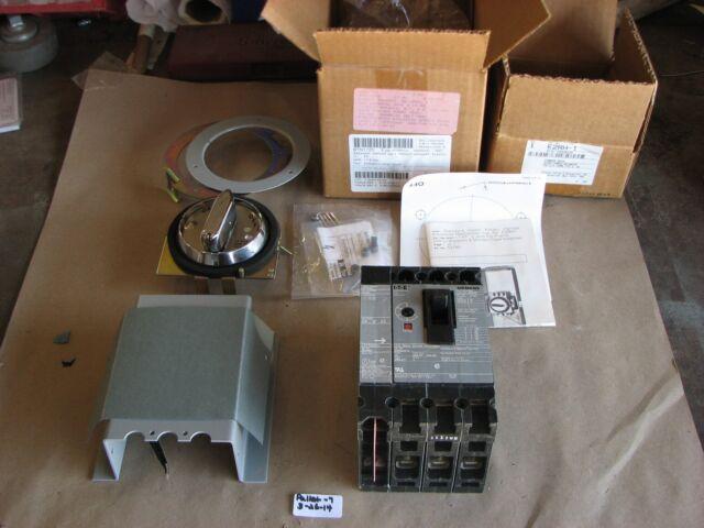 NIB SIEMENS 10AMP CIRCUIT BREAKER ED63A010 3 POLE  600VAC/250DC W/ S01E60/E2RH-1
