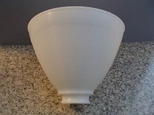 White opal plastic 8quot floor table oil lamp ies reflector for Floor lamp reflector shade glass