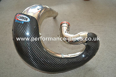 PRO CARBON Fibre Exhaust Guard fits FMF FATTY HONDA CR250 CR 250  2000 - ON