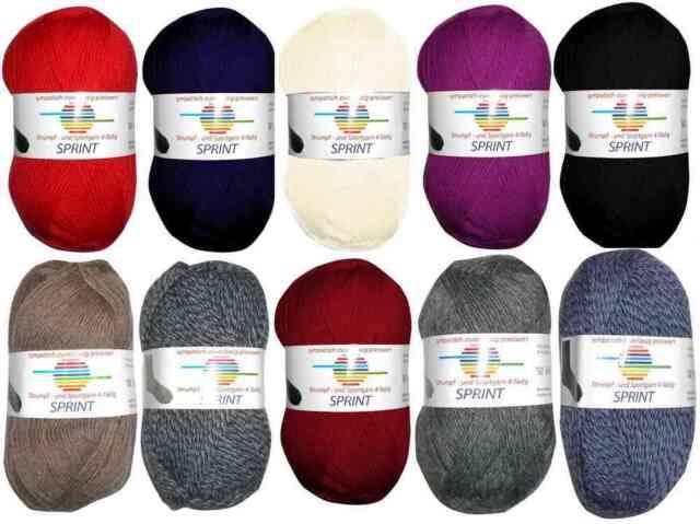 GB SPRINT Strumpfwolle Sockenwolle 75% Schurwolle superwash, weich (4,60€/100g)
