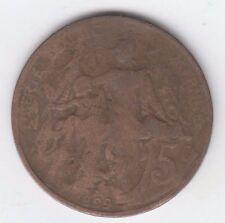 France 1899 5 Centimes, Marianne, Bronze, Liberte Egalite Fraternite