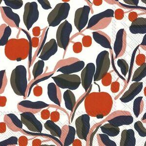 Marimekko-JASPI-white-rose-paper-table-33cm-square-lunch-napkins-20-in-pack