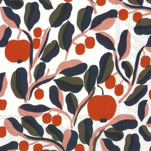 Marimekko JASPI white rose paper table 33cm square lunch napkins 20 in pack