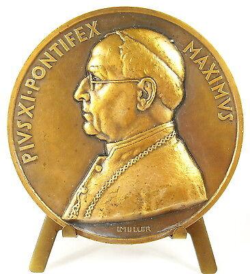 Diligente Médaille Papale Vatican Pape Pope Papa Pie Pius Pio Xi Pontifex Sc Muller Medal