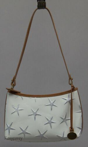 Brahmin White Mini Star Fish Leather Purse Handbag