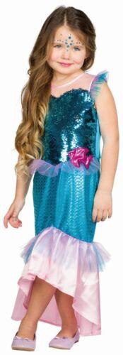 Kinder Kostüm Nixe Meerjungfrau Kleid Karneval Fasching Rub